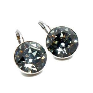 SWAROVSKI~bella~BLACK DIAMOND CRYSTAL EARRINGS